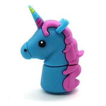 Popular Cute Cartoon Unicorn Usb Stick 2.0 Pen Drive 128GB Flash 256GB Memory Card U Disk 512GB Pendrive Free Shipping