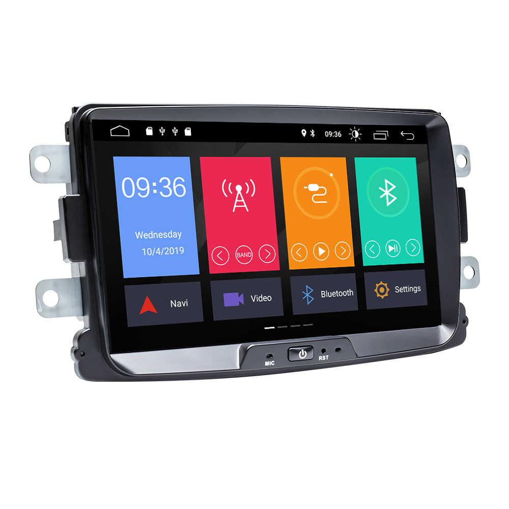 Автомобильный мультимедийный плеер Android 9 2 Din для Dacia/Sandero/Duster/Renault/Captur/Lada/Xray 2/Logan2 GSP навигационное головное устройство стерео