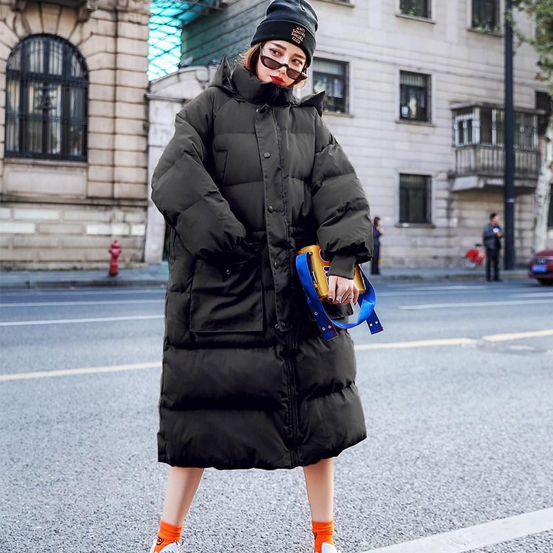 2019 Winter   Coat   Women Oversize 90%White Duck   Down   Jacket Loose Hooded Long   Down     Coat   Female Thick Warm   Down   Parka Snow Outwear