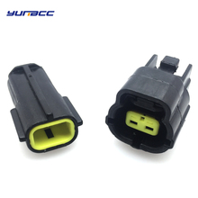 5Sets 2Pin Female Male Waterproof Wire Connector Plug Car Auto Sealed Car Truck Denso Connectors 174354-2 174352-2 цены онлайн