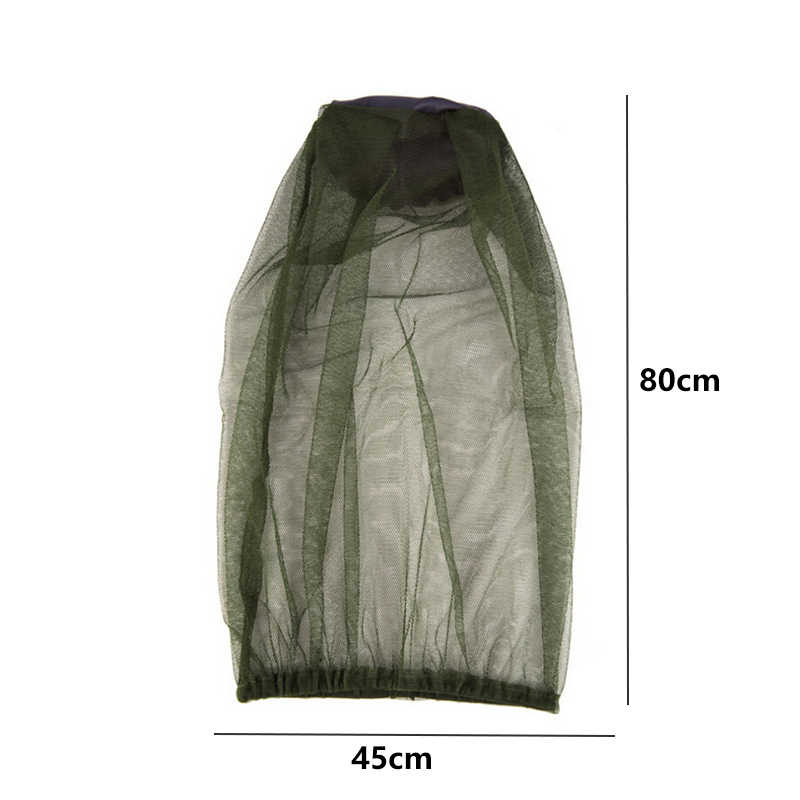 Kualitas Tinggi BARU Outdoor Memancing Midge Nyamuk Serangga Memancing Perjalanan Musim Panas Mesh Kepala Net Wajah Pelindung Berkemah Shading Masker