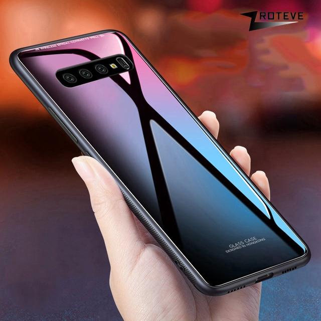 Pour Samsung Galaxy S10 Plus étui ZROTEVE Coque pour Samsung Note 10 9 8 étui en verre trempé S8 S9 Plus S10 E S10E Lite étui