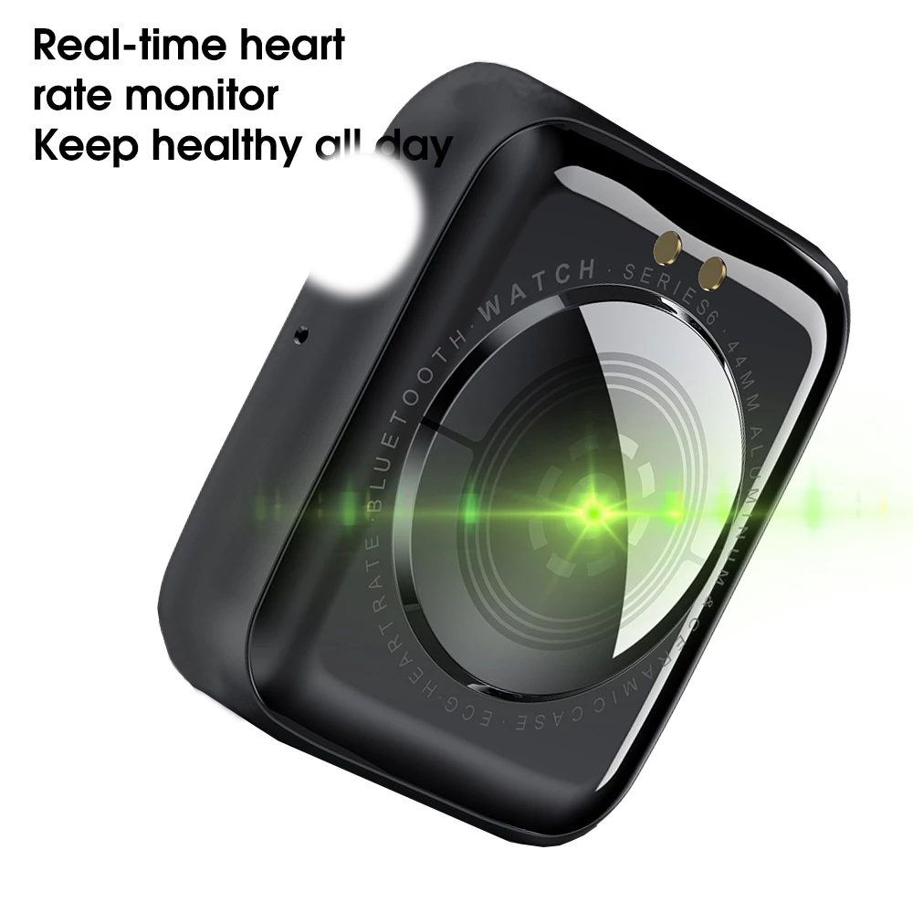lowest price Rodrigo Reis IWO W46 Smart Watch DIY Watch Face 1 75inch Infinite Screen Waterproof Heart Rate ECG Sport Band For IOS Android