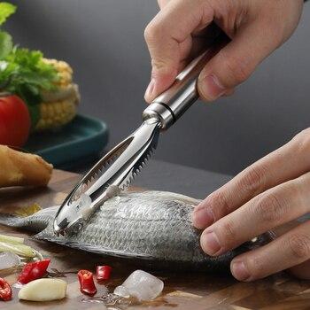 Ralladores de raspado de escamas de pescado de acero inoxidable, pelador para...