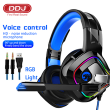 Professional Gaming Headsets Gamer Headphones Super Bass 9D Stereo PC Laptop With Microphone For Computer PS4 PC LED Light Gifts cheap Dynamic CN(Origin) Wired 32dB RoHS 3 5m For Internet Bar Monitor Headphone for Video Game HiFi Headphone Line Type User Manual