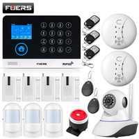 FUERS WG11 WIFI GSM sans fil, système d'alarme de sécurité pour les affaires à domicile, détecteur de mouvement RFID, capteur de fumée PIR