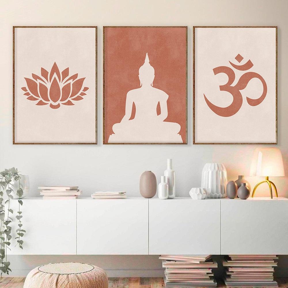 Йога Медитация холст живопись абстрактная статуя Будды Лотос плакат Будда Буддизм печатные Плакаты для гостиной Декор настенное искусство|Рисование и каллиграфия| | АлиЭкспресс