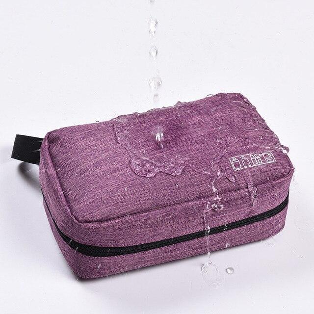 Men Women Hanging Cosmetic Bag Multifunction Travel Organizer Toiletry Wash Make up Storage Pouch Beautician Folding Makeup Bag 3