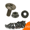 Motorcycle Panel Body 6mm Big Flat Head Cross Bolt M6 for Electric Scooter Motorcycle License Plate Screw