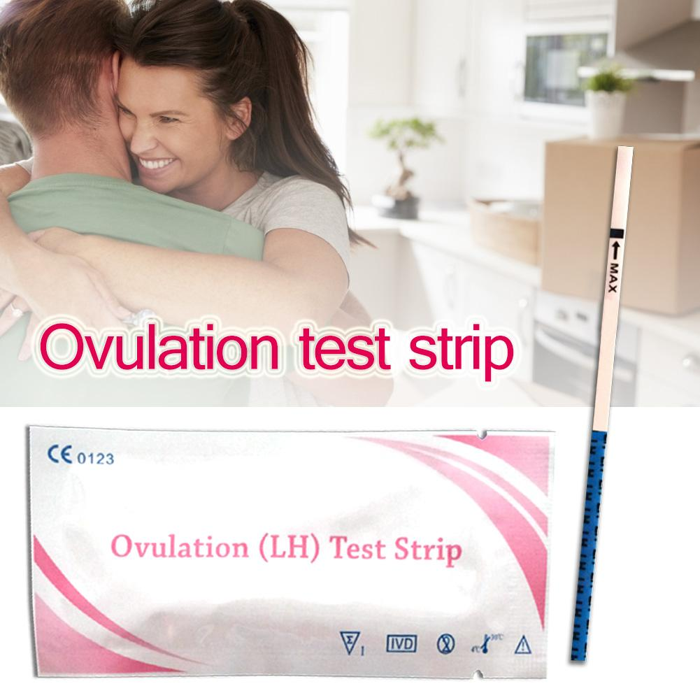 10pcs Early Pregnancy Ovulation Test Strip Predictor Fertility Kit Stick For Urine Test Measure Pregnancy Female Pregnancy Rap image
