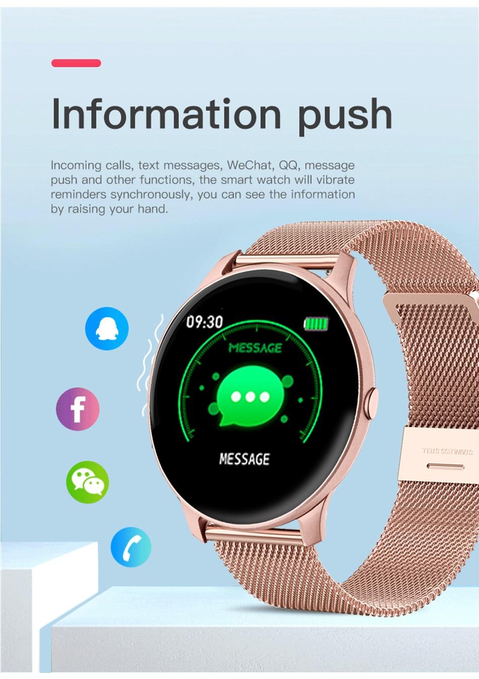 H59443e5a7b1e4fd5834b2d80a468c8186 LIGE 2021 Fashion Smart Watch Ladies Heart Rate Blood Pressure Multifunctional Sport Watch Men Woman Waterproof Smartwatch Women