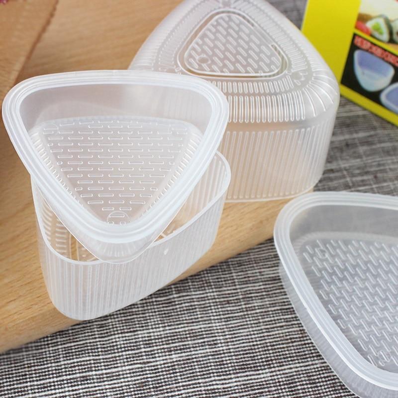 4PCS/Set DIY Sushi Mold Onigiri Rice Ball Food Press Triangular Sushi Maker Mold Sushi Kit Japanese Kitchen Bento Accessories 6