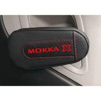 Pu Leder Knie Pad handlauf pad Innen Auto Zubehör Für Opel Mokka x