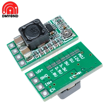 MINI Buck Module 12V 24V to 5V 3A Green Converter Adjustable 97.5 Step Down Power Supply Module Voltage For Flight Control Car image