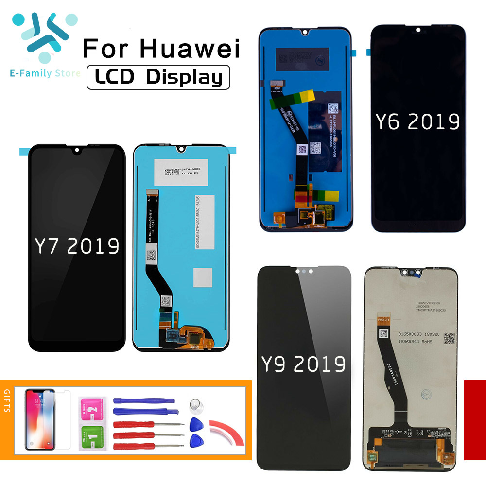 E-family For HUAWEI Y6 2019 Y7 2019 LCD Display Touch Screen Digitizer For HUAWEI Y9 2019 Display Assembly Replacement