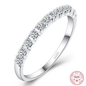 925 Silver Color White Diamond Ring for Women Anillos Gemstone Bizuteria bijoux femme anillos plata 925 para mujer Jewelry Ring