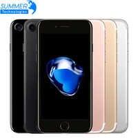 Apple original iphone 7 4g lte celular quad core 2 gb ram 32g/128/256 gb ios 12.0mp impressão digital telefones celulares