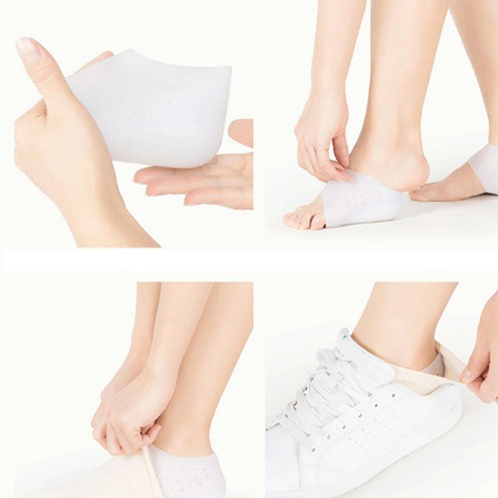 1 Pair Invisible Insole Heightening Orthopedic Unisex Heel Pad 3cm 5cm Silicone PU Insole Soft Non-sensing Massage Mat