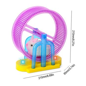 Hamster Roller Electric Toy Led Light Plush Hamster Runner Running Cage Ball New Strange Led Light Music Hamster Wheel 5