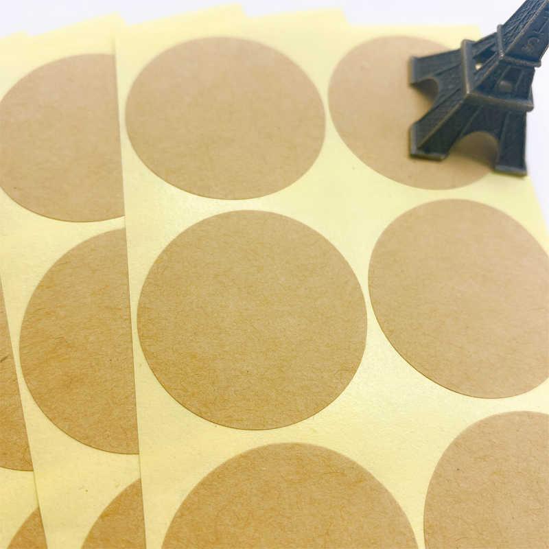 100 ชิ้น/ล็อตรอบกระดาษคราฟท์สติกเกอร์สำหรับ Handmade ผลิตภัณฑ์ของขวัญสติกเกอร์ DIY สติกเกอร์ Scrapbooking