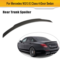 W213 Car Rear Trunk Spoiler Wing for Mercedes Benz E Class W213 Sedan 4 Door 2016 2019 Rear Spoiler Wing Carbon Fiber
