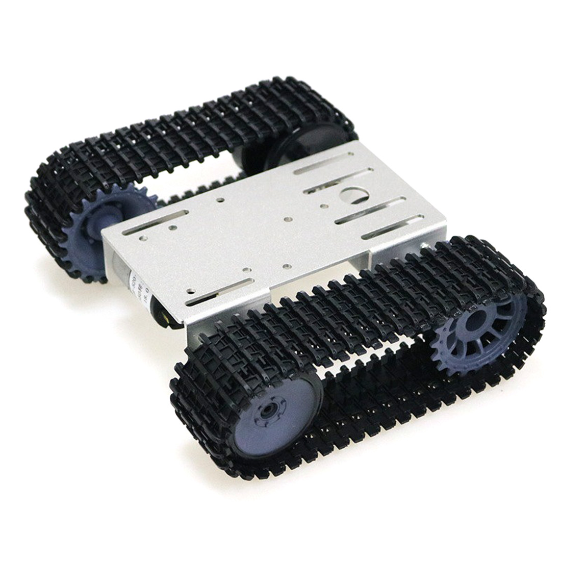 TP101 High Tech Tracked Robot Smart Car Platform DIY Metal Robot Tank Crawler Chassis Platform Kit For Arduino - Silver