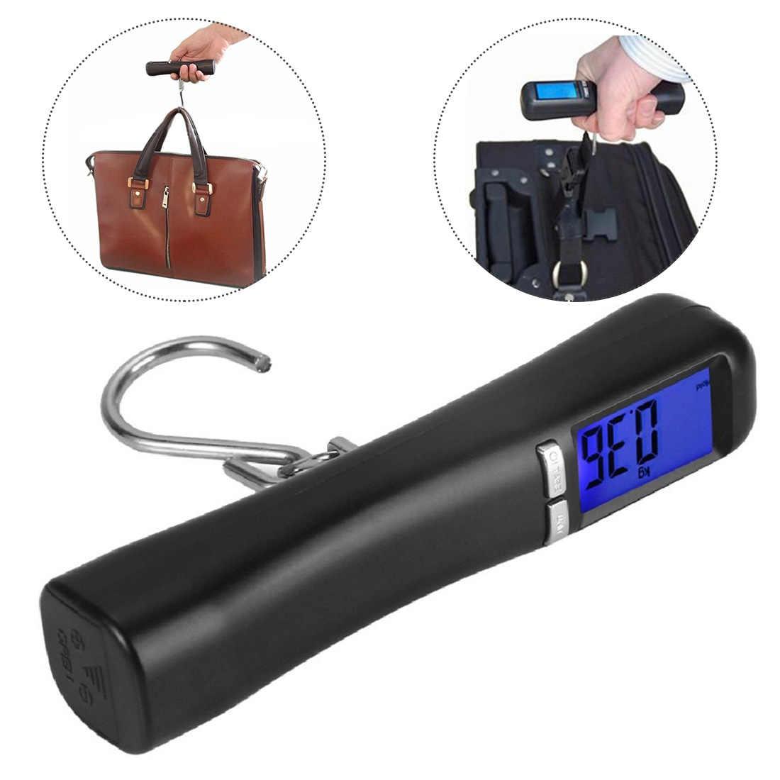 Balance à bagages électronique numérique, échelle en suspension 50 kg/10g valise Portable sac de voyage Balance de poids échelle de cuisine à main