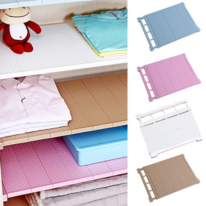 Image 2 - Adjustable Closet Organizer Storage Shelf Wall Mounted DIY Wardrobe/Clothes/Kitchen Storage Holders Racks Plastic Layer/Dividers