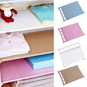 Image 2 - Étagère de rangement ajustable pour armoire/vêtements/cuisine rangement, organiseur de placard, couche en plastique supports étagères de diviseurs