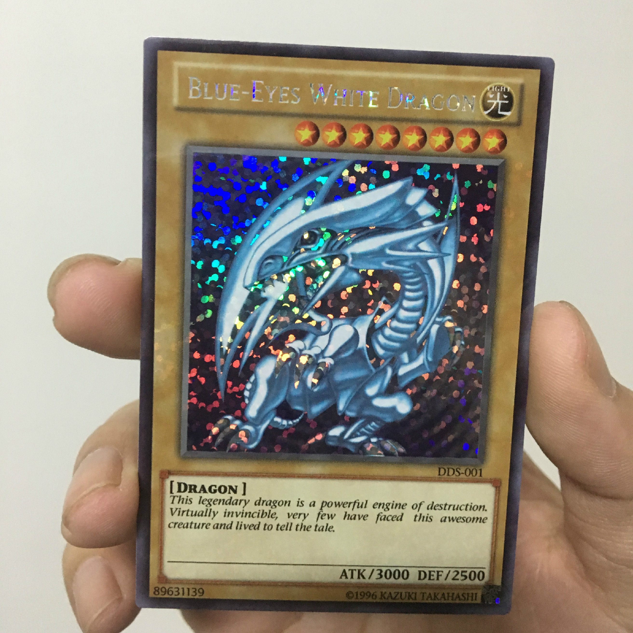 Yu Gi Oh Blue Eyes White Dragon English DDS-001 DIY Colorful Toys Hobbies Hobby Collectibles Game Collection Anime Cards