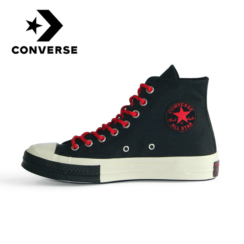 Original 1970S Converse All Star Unisex Skateboarding Shoes High-top Fashion Wear Resistant Cozy Lace-up Durable 161479C