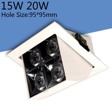 Диммируемый COB 15 Вт 20 Вт Светодиодный точечный светильник CRI> 90 AC85-265V Гарантия 3 года 110лм/Вт