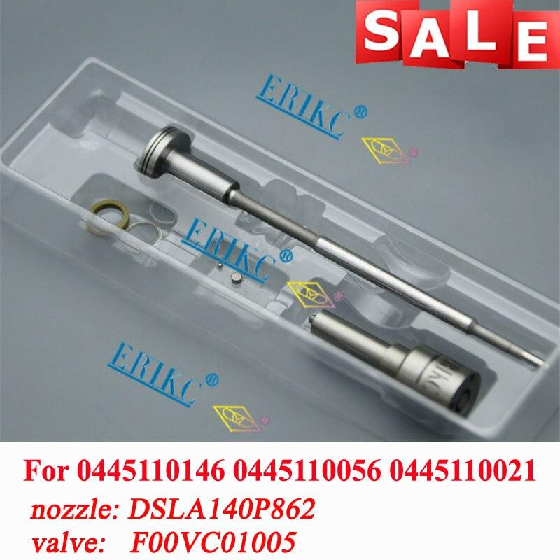 ERIKC 0445110146 zestawy naprawcze dyszy wtryskiwacz oleju napędowego F00VC01005 DSLA140P862 (0433175230) dla OPEL RENAULT 7700107165 8200212715