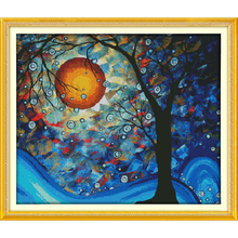 Everlasting love The tree of dreams  Ecological cotton Chinese cross stitch kits counted stamped 11 CT 14 CT New sales promotion everlasting love the beach path among the flowers chinese cross stitch kits ecological cotton stamped 11 ct new sales promotion
