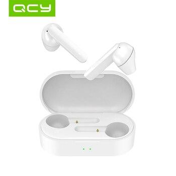 QCY T3 TWS Fingerprint Touch Wireless Headphones Bluetooth V5.0 3D Stereo Dual-Mic earphones