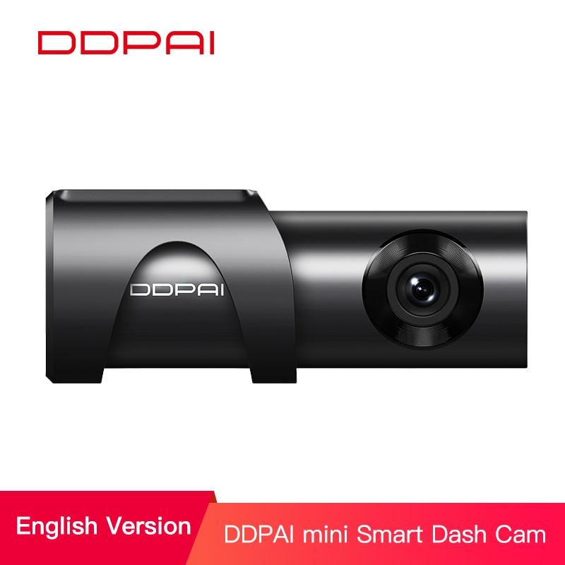 DDPai Mini3 Full HD 1600P Dash Cam WiFi 32G coche DVR con WDR G sensor 24H parque de grabación en bucle grabadora de disco