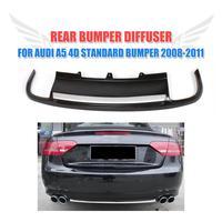 DELL'UNITÀ di elaborazione Verniciato Nero Car Diffusore Posteriore Lip Spoiler Per Audi A5 Sportback 4 porta Standard di 2008-2011 Non- sline