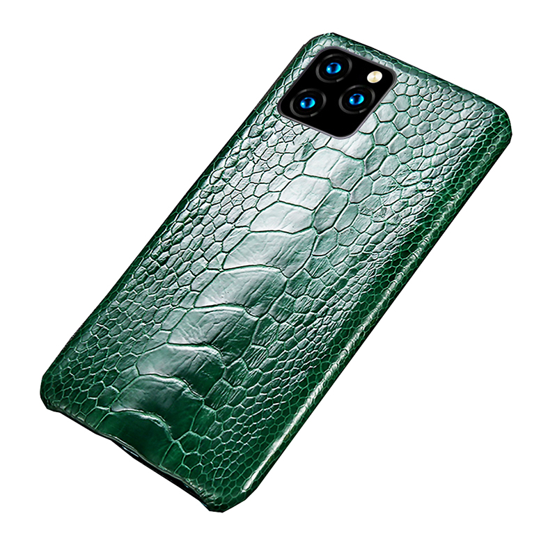 LANGSIDI Genuine Leather phone case for iphone 11 pro max Luxury real Ostrich Leg cover for Apple iphone XR X 8 7 XS Plus Fundas
