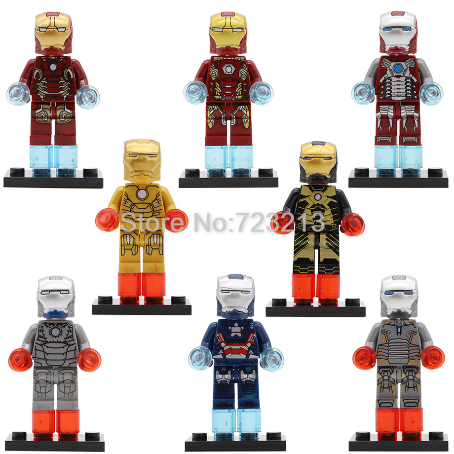 Super Hero Single Sale Iron Man Patriot Mark Figure Mark 21 5 41 2 45 Model Building Blocks Kits Set Brick Toys Gifts Legoing