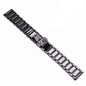 Image 4 - 22mm siyah yüksek dereceli parlak seramik kayış bilezik izle bantları için Armani İzle AR1507 AR1509 AR1499 seramik izle