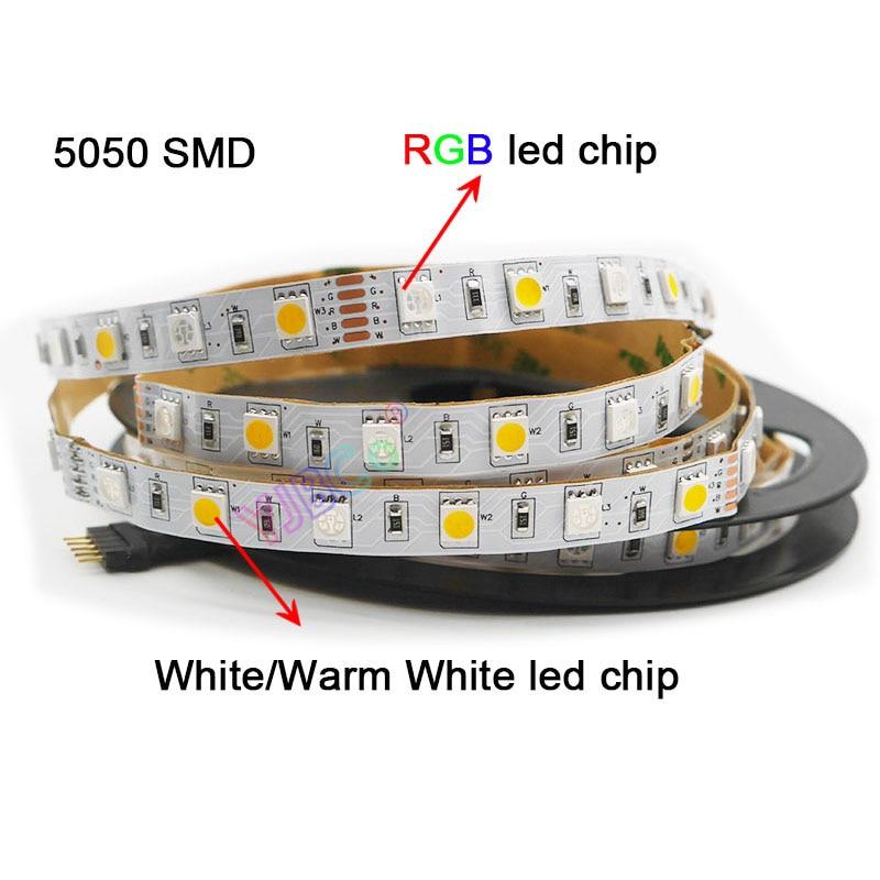 DC12V 24V 5m/lot 60leds/M RGBW RGBWW RGB CCT LED Strip Light,RGB +( White/Warm White)  SMD 5050 Flexible Led Strip Light