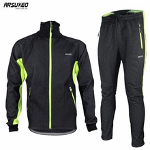 ARSUXEO 2014 Winter Warm Up Thermal Cycling Bike Bicycle Jacket Pant Uniform Bib Pad Windproof Waterproof 14A цена