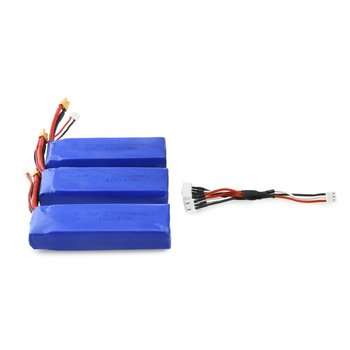 3Pcs Upgraded 7.4V 2300mAh 2S 35C Li-po Rechargeable Battery with XT30 Plug Spare Parts for MJX Bugs 6 B6 RC Drone Quadcopter