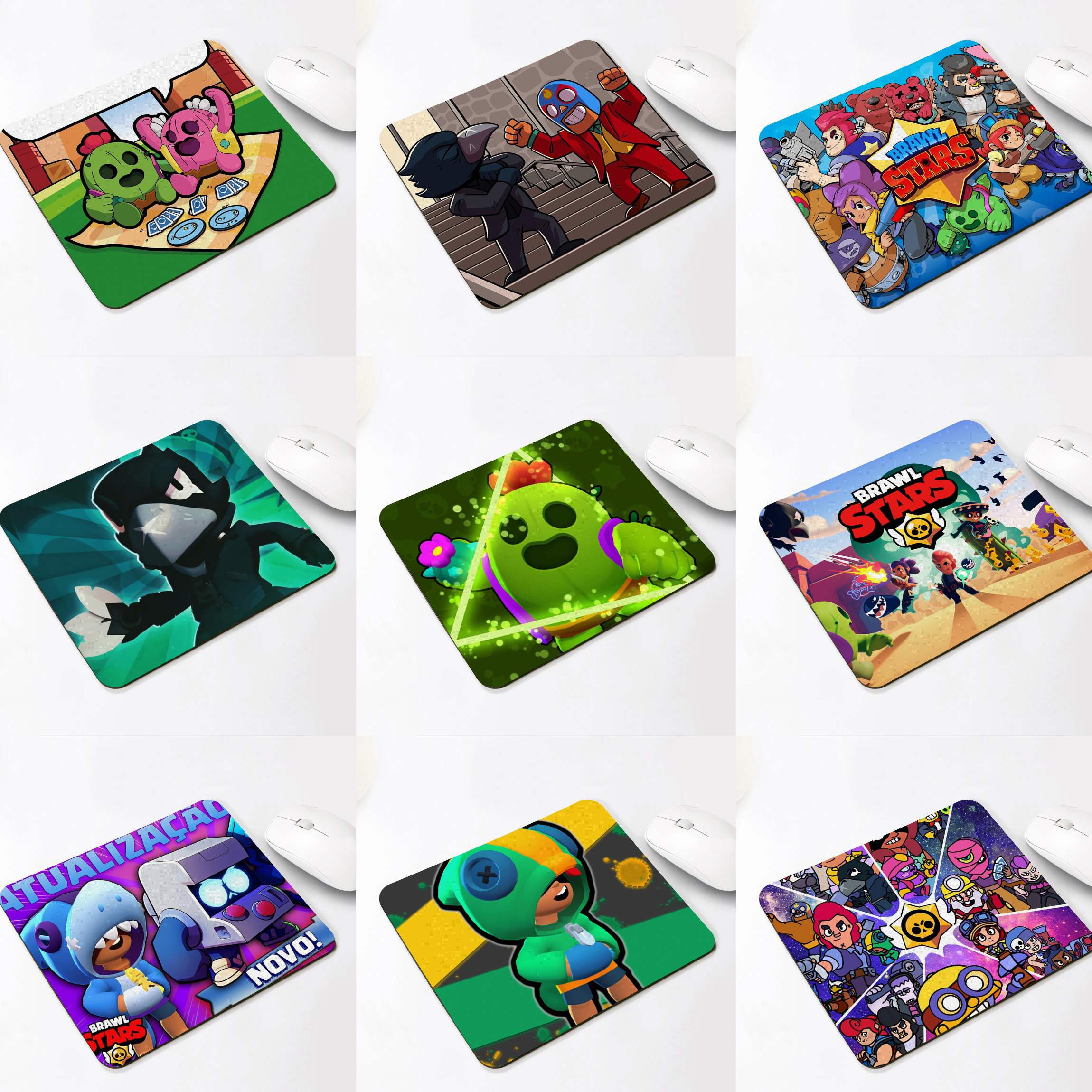 Brawling Game Hero Star Keyboard Mat Desk Mat Spike Shelly Leon Desktop Mousepad Rubber Professional Gaming Mouse Pad Toys
