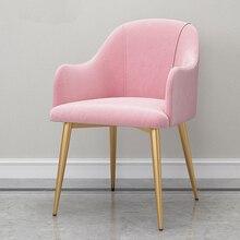 Домашний обеденный стул, скандинавский ресторанный светильник, роскошный стул для кафе, мебель для гостиной, розовый Sillas Comedor Cadeira