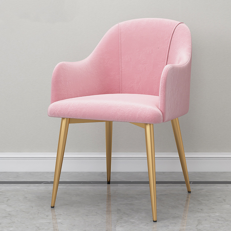 Household Dining Chair Nordic Restaurant Chair Light Luxurious Cafe Chair Living Room Furniture Pink Sillas Comedor Cadeira
