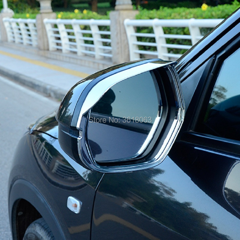 For <font><b>Honda</b></font> HR-V <font><b>HRV</b></font> Vezel 2014-2019 Door Rear View Mirror Eyebrow Cover Rain Snow Shield Sun Visor Trims ABS Car <font><b>Accessories</b></font> image