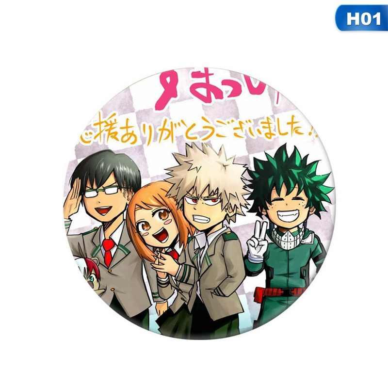 5,8 cm Große Russland Brosche Nette Pin Mädchen Boy Anime Abzeichen Mein Hero Wissenschaft Bakugo Katsuki Münze Icon Tuch Rucksack ornament GESCHENK