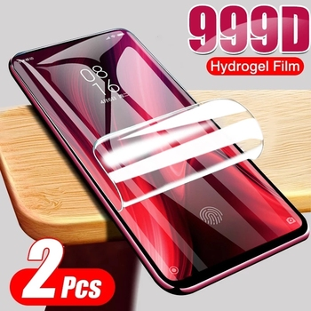 2 sztuk hydrożel Film dla Xiaomi Redmi uwaga 9 Pro Max 8 7 9T 9s 8t miękka folia ochronna dla Redmi 6 5 PLus 9A 8A 7A 6A 5A bez szkła tanie i dobre opinie QUCUPK Przezroczysty FOLIA HD CN (pochodzenie) Folia na przód Transparent Hydrogel Film