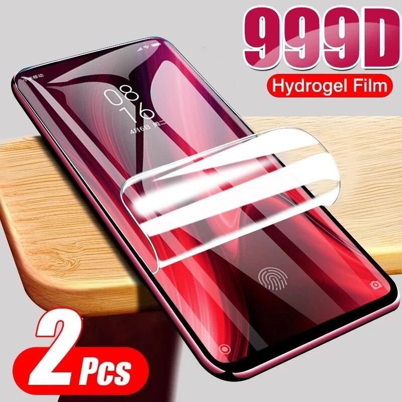 2 pçs filme de hidrogel para xiaomi redmi nota 9 pro max 8 7 9s 8t protetor de tela macia para redmi 6 5 plus 9a 8a 7a 6a 5a não vidro